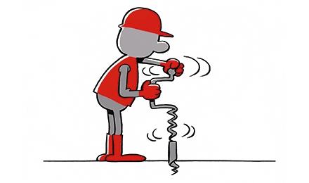 Cartoon Boringen